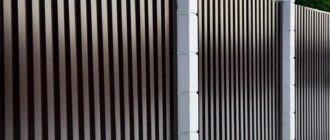 Как сделать красивый забор из металлопрофиля с металлическими столбами своими руками