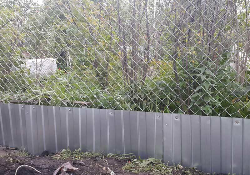 Забор из рабицы и профлиста