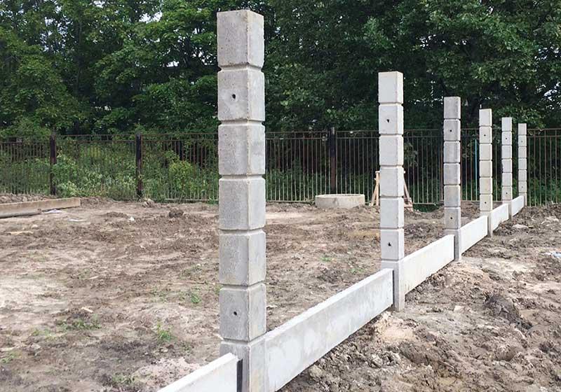 Железобетонная опора для забора элементы оград железобетонные ту