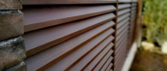 Забор жалюзи из металлических секций и досок своими руками